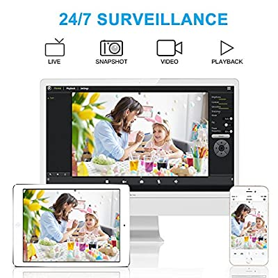 1080P WiFi Home Security IP Camera Smart Wireless Indoor Surveillance Camera System for Pet Baby Nanny Monitor with Audio Motion Detection Night Vision Remote Control