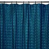 Maytex Orbit 13-Piece Shower Curtain Set, Navy