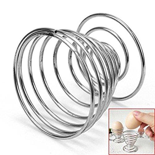 Sundarling Stainelss Steel Egg Tray Egg Cup Boiled Eggs Holder Stand Storage (1) by Sundarling (Image #1)