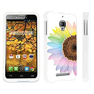 DuroCase ? Alcatel One Touch Fierce 7024W Hard Case White - (Sunflower)