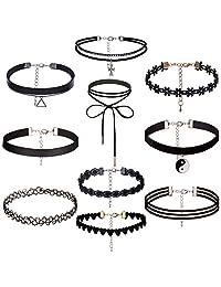Counting Stars 1-10 Pcs Choker Necklace Women Black Choker Velvet Choker Set
