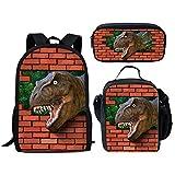INSTANTARTS Megalosaurus Satchel Backpack Primary School Lunch Case Dinosaur Pen Box