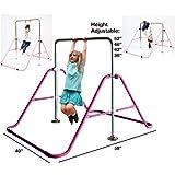 Kids Jungle Gymnastics Expandable Junior Training Monkey Bars Climbing Tower Child play Training Gym Pink