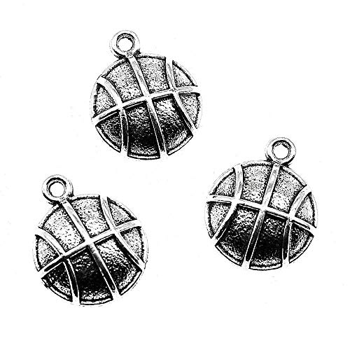 Taliyah 10 Pieces Basketball Charm Pendants for Women Jewelry Findings