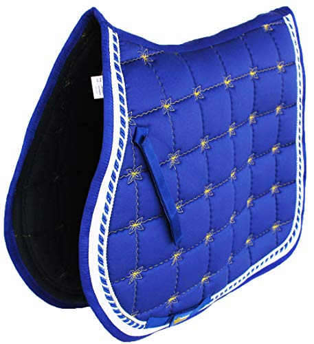 Professional Equine Horse Quilted English Saddle PAD Trail All Purpose Blue 72F50