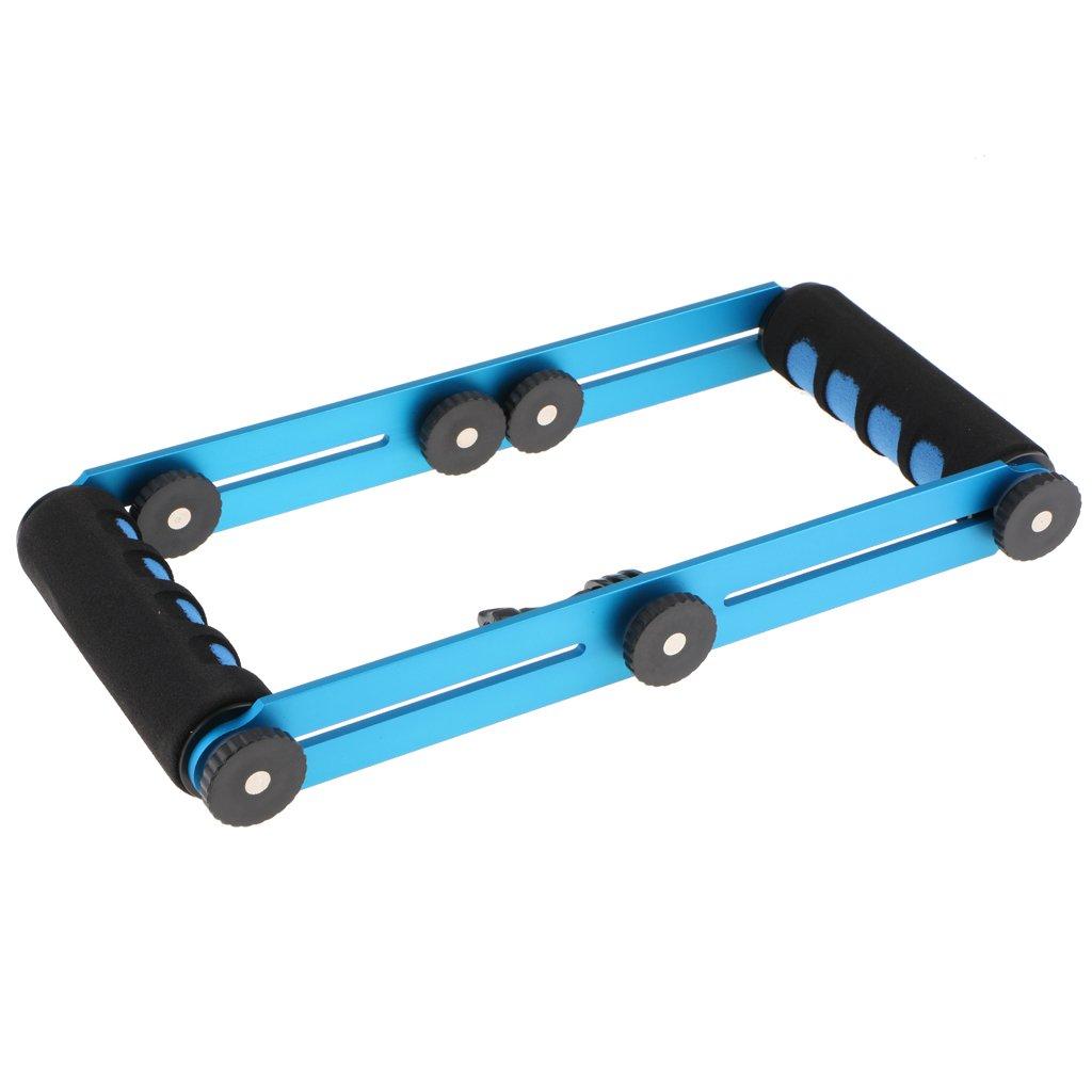 3 2-Azul MagiDeal Soporte de Kit de Selfie de Extensi/ón de Aluminio CNC para Gopro Hero 6 5 Sesi/ón 4 3