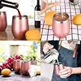 Zonegrace 4 pack Rose Gold 12 oz Stainless Steel