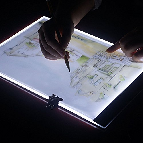 Lanlan A4 LED Light Tablet Pad USB Charging Copyboard Facsimile Board Light Table Gift A4 (dimmable) + 1.5m USB cable (without charging head) by Lanlan (Image #2)