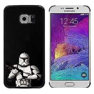 // PHONE CASE GIFT // Duro Estuche protector PC Cáscara Plástico Carcasa Funda Hard Protective Case for Samsung Galaxy S6 EDGE / Tormenta Tropa Frente /