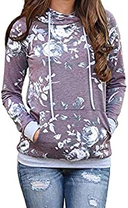 onlypuff Women's Lightweight Casual Pullover Hoodies Sweatsh