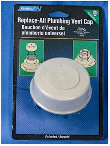 """B000BQWQ0A Camco Replace-All Plumbing Vent Cap with Spring Attachment - Replaces Lost or Damaged RV Plumbing Vent Caps 