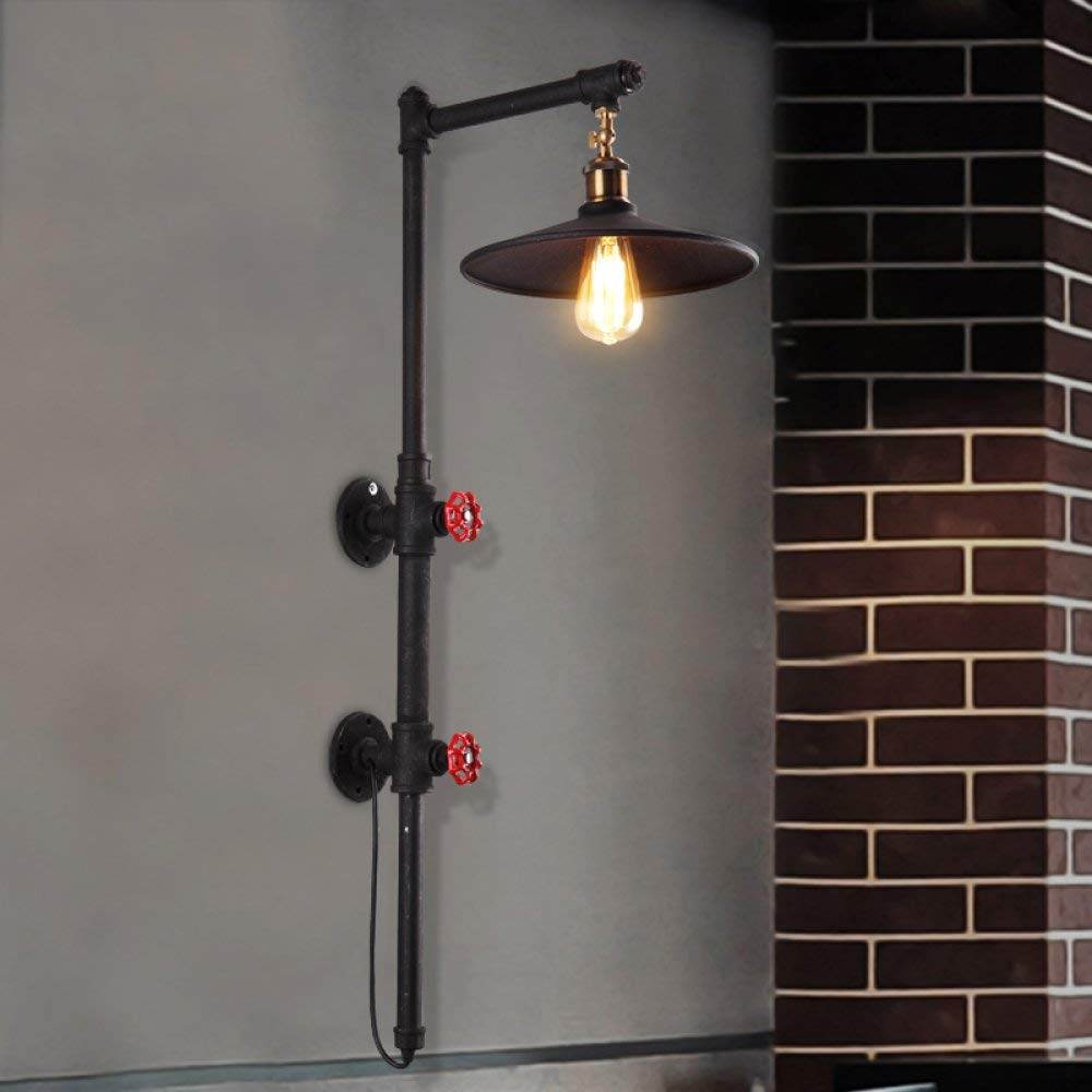 BXJ 現代のヴィンテージウォールライトホーム装飾調節可能な鉄の壁ランプロフトメタルレトロ工業用ウォールライトクリエイティブ人格屋内照明シングルヘッド壁取り付け用燭台E27ソケット用ハウスバーclub40W B07R9NCSJ2