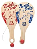 Schylling, Set of 2 Paddle Ball Game bundled by Maven Gifts