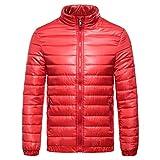 Pervobs Men's Autumn Winter Casual Jakcet Coat Solid Thick Cotton Outwear Top Blouse