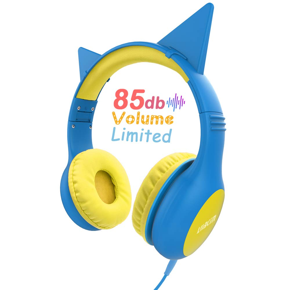 Cat Ears Headphones, LOBKIN Kids Headsets Cat Ear Headband Earphone On Ear for Children,Girls,Adult,Foldable Headphone with Glowing Light, Compatible with phone,Samsung, Kindle Fire, iPad Tablets