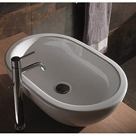 Piano Lavabo Ceramica Globo.Ceramic Counter Top Washbasin 60 X 40 Globo Concept Sc012 Bi