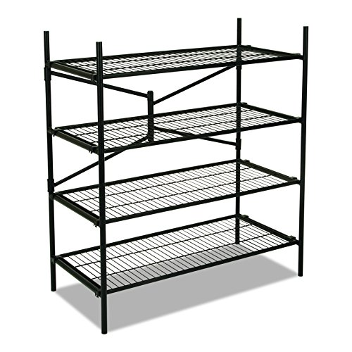 Storage Shelves Four (Cosco Instant Storage Shelving Unit, 4 Shelves, 42 3/4 x 20 3/4 x 47 3/4, Black)