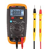 DMiotech Digital Multimeter True RMS Auto-Ranging AC / DC Voltage Current Capacitance Frequency Duty Cycle Temperature NCV LCD Backlight 5999 Count with Sound Control Smart-V