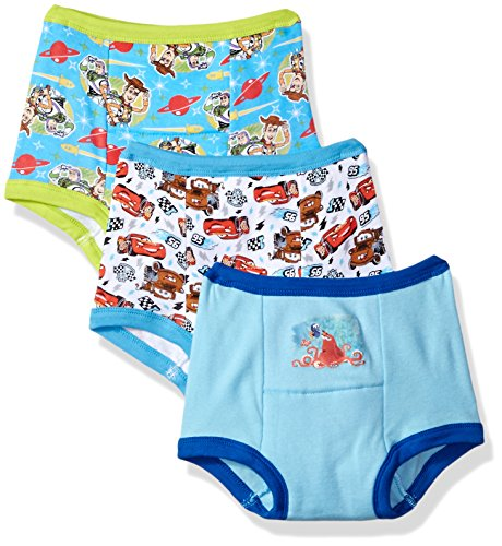 Training Pack 3 Pants (Disney Toddler Boys' Cars Toy Story Nemo 3 Pack Training Pant, Assorted, 3T)
