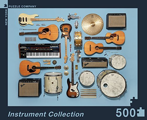 New York Puzzle Company - Jim Golden Instrument Collection - 500 Piece Jigsaw Puzzle by New York Puzzle Company