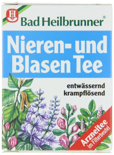 Bad Heilbrunner Nieren und Blasen Tea / kidney and bladder tea(4 Packs each 8 Teabags) - fresh from Germany ()