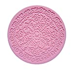 Longzand Molds HY1-154 DIY Cake Decorating Mold with Silicone Lace Mold Mat, Fondant Mold and Silicone Sugar Craft Molds, Pink