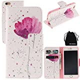 DRUnKQUEEn iPhone 6s Case, iPhone 6 Case, PU Leather Wallet Case Back Cellphone Shell Skin Magnetic Flap Cover with Credit Card Holder for iPhone6 / iPhone6s
