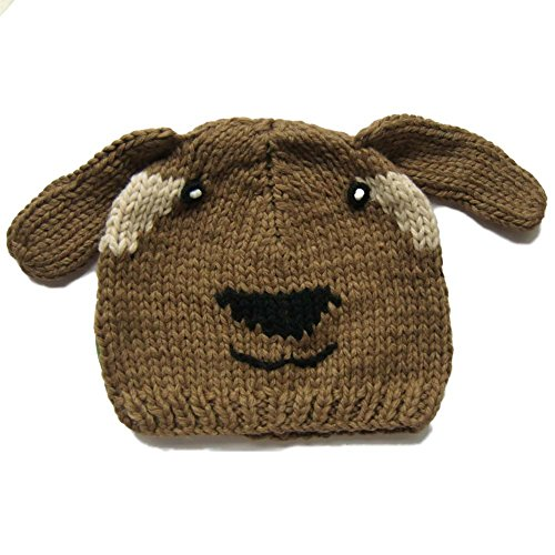 Comfy Animal Knit Beanie Hat for Kids & Adults for Fall Winter or Costume - Brown Dog (Halloween Costumes Canada)