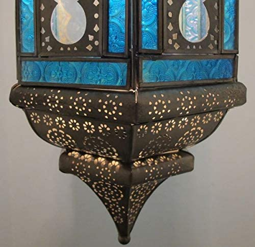 Lampadario in ottone indiano orientale Shanta