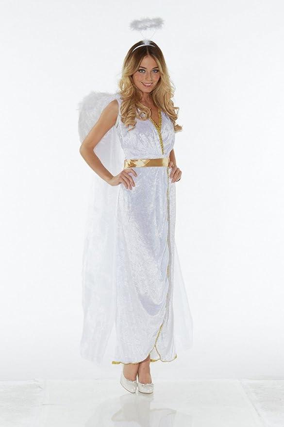 shoperama – Disfraz de ángel Mujer alas Aureola angelitos Ángel ...