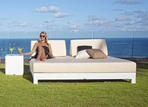 Camas-Sofas de Diseño Exterior : Modelo MELQUI blanco