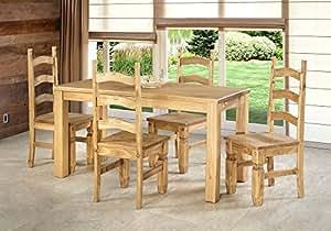 Muebles de comedor 150 x 73 cm 4 sillas mexico madera for Amazon muebles comedor