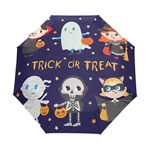 senya Funny Halloween Costumes Umbrella Windproof Rain Automatic Open Close Folding Travel Anti-UV Sun Umbrellas