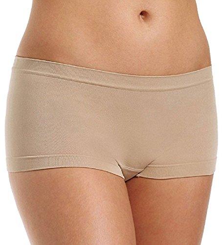 Coobie Seamless Boy Short Panty - 9008 (O/S, Nude)