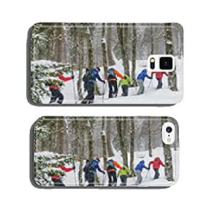 Snowshoe Tour in the winter forest cell phone cover case Samsung S5