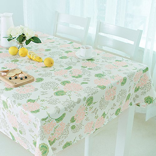 Waterproof and oil-proof hot disposable tablecloths pastoral printed cotton fabric rectangle coffee table table cloth tablecloth , flower time table cloth , ()