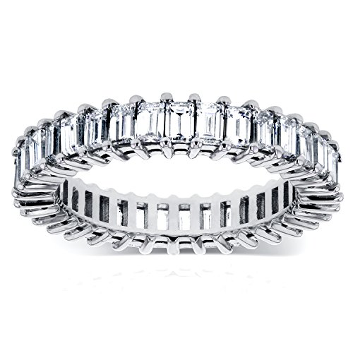 amond Eternity Band 3 1/4 CTW in 14K White Gold, Size 7.5 ()