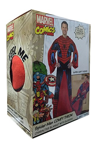 "Spiderman Comfy Throw Blanket With Sleeves Fleece Adult 48""x71"""