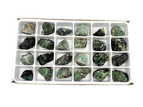 Crystals & Healing Stones Set - Premium Healing Crystals Gift Kit in Box - Chakra Set Natural Stones - Rustic Home Decorations Collection Emerald