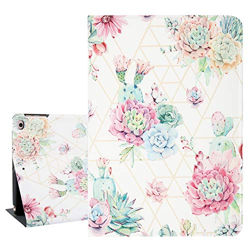 Hepix Succulent iPad 9.7 Case Cacti Flowers iPad Air 2 Cases, Lightweight Protective iPad 5th Gen Case PU Leather Foldable Stand with Auto Sleep Wake
