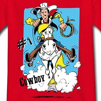 Lucky Luke et Jolly Jumper en Action T-Shirt Enfant
