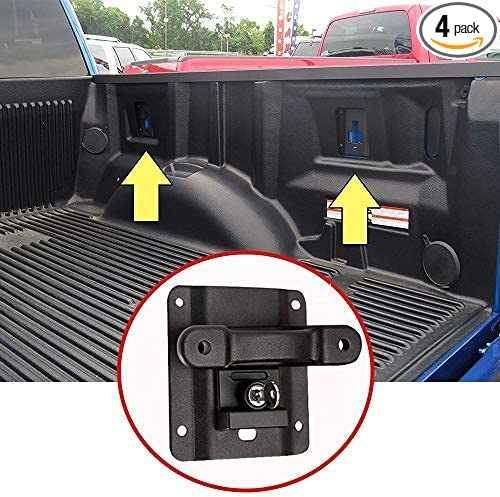WMPHE Compatible with 4PCS Tie Down Anchors Ford F150 F250 F350 and Raptor Models 2015-2020 FL3Z99000A64B Cargo Fixed Anti-Theft Deduction