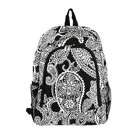 Bp 5016 640 Yh Backpack Paisley White - Swt - Black Label Duffel
