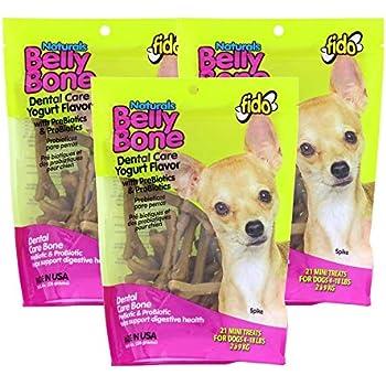 Amazon.com: (3 Pack) Fido Belly Dog Bone, Digestion Aid w