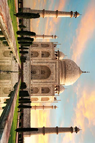 1art1 Taj Mahal Poster Art Print - The Crown of Palaces in The Morning Sun (71 x 48 inches)