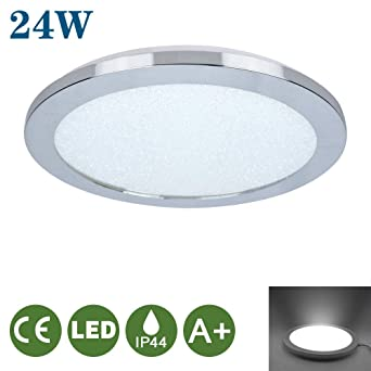 Cool White 6000K and Dining Room 2-in-1 Round Ceiling Light for Living Room Office 24W Flush LED Ceiling Lights Hallway,Kitchen,Bedroom