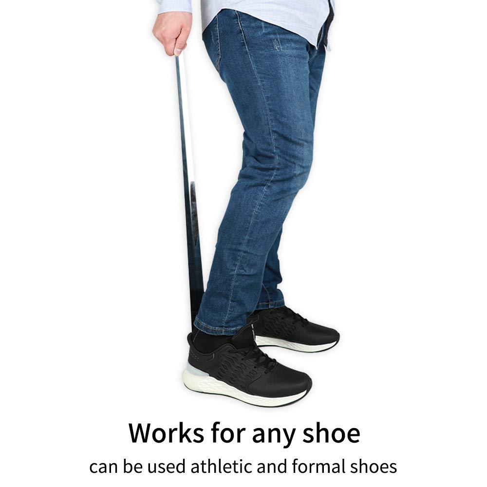 31,5 inch Chausse-pieds en m/étal durable avec long manche en acier inoxydable avec crochet extra-long