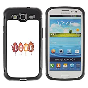 "Pulsar iFace Series Tpu silicona Carcasa Funda Case para Samsung Galaxy S3 III I9300 , Autumn Leaves texto blanco minimalista"""