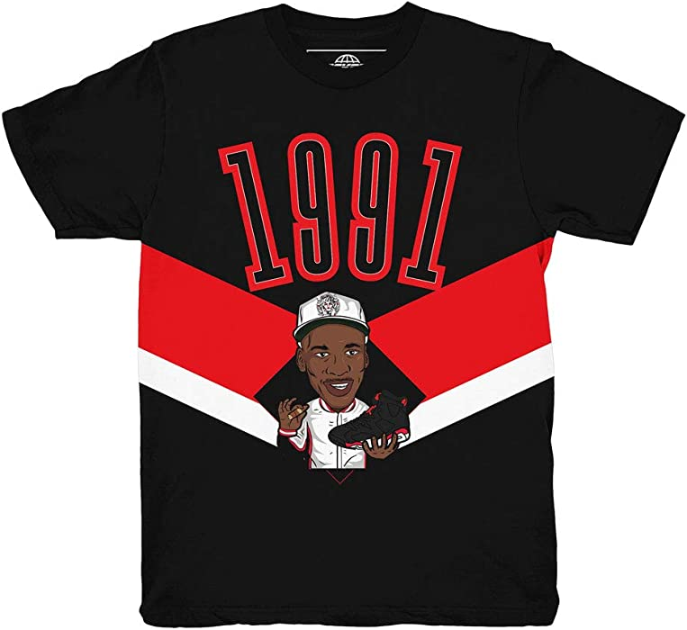661abe5ae7b034 Infrared 6 1991 Shirt to Match Jordan 6 Infrared Sneakers (Small)