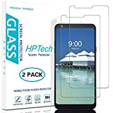 HPTech LG Stylo 4 Screen Protector - [2-Pack] Tempered Glass Film for LG Stylo 4 Easy to Install, Bubble Free with Lifetime Replacement Warranty